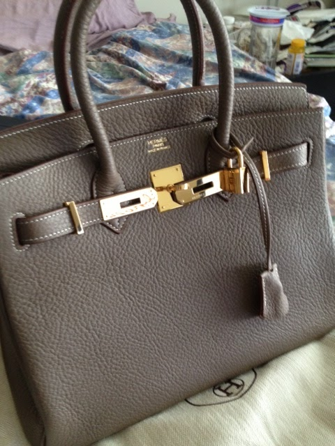 hermes handbag styles - Purse Princess: Replica Hermes Birkin 30cm Clemence Leather by ...