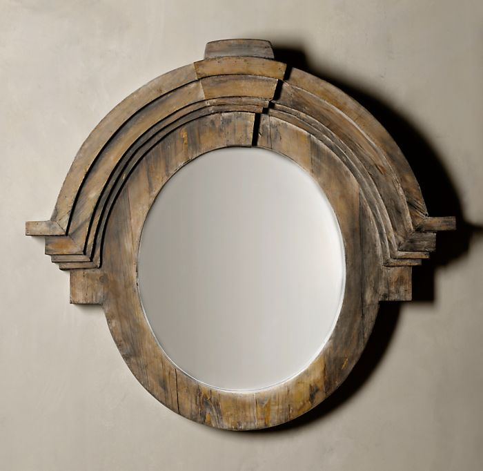 Blaise adkison interior design wall mirror round up for Restoration hardware round mirror