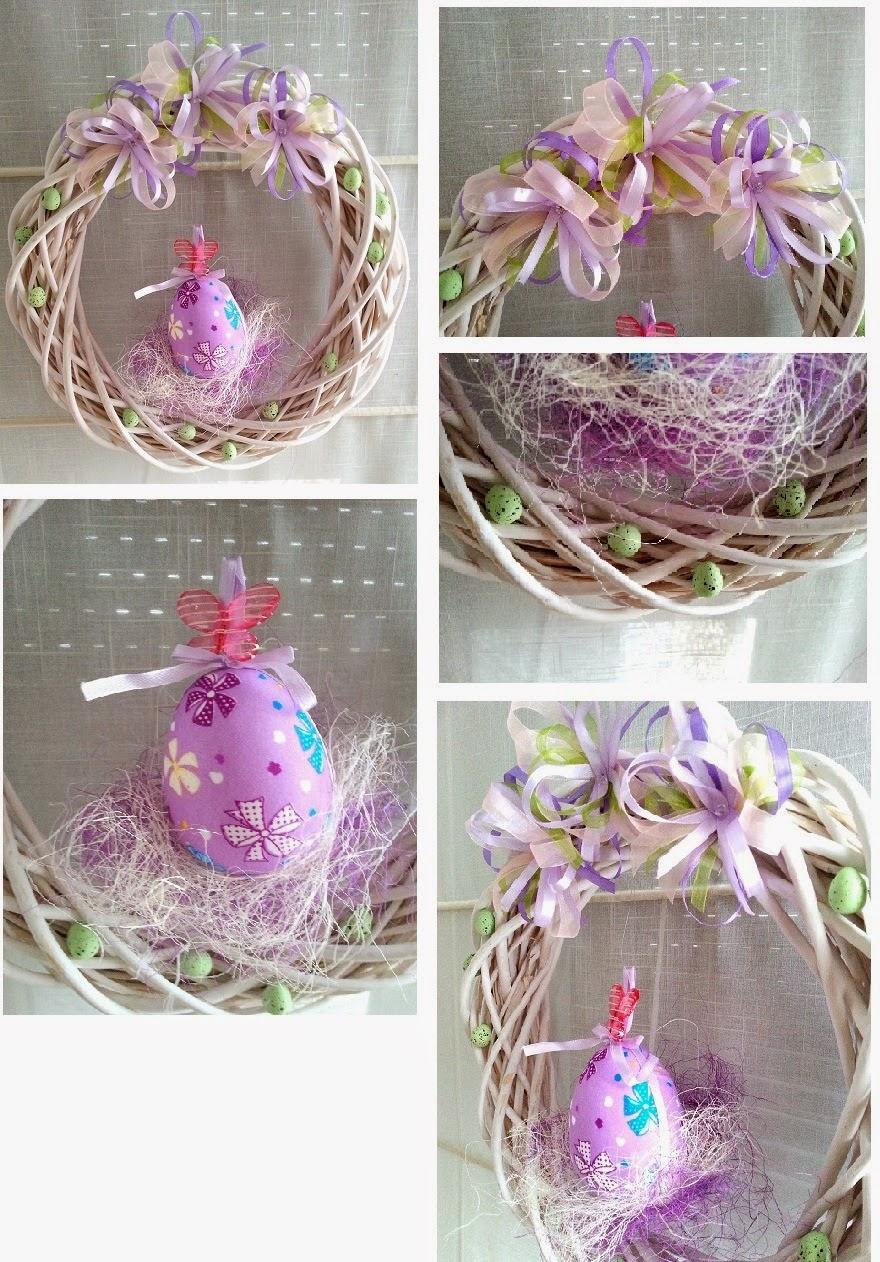 Adela Szyje świąteczne Dekoracje Czyli Wianek Wielkanocny Na