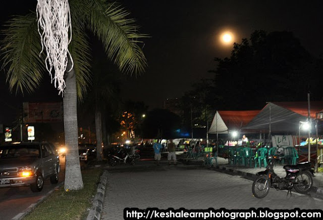 Night and full moon  in Palangkaraya