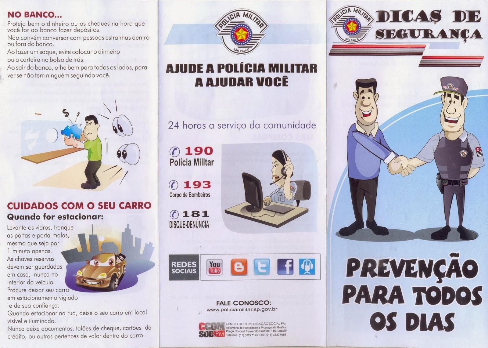 PMSP DICAS PREVENTIVAS