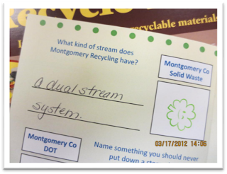 Question: What kind of stream does Montgomery Recycling have? Answer: A dual stream system.