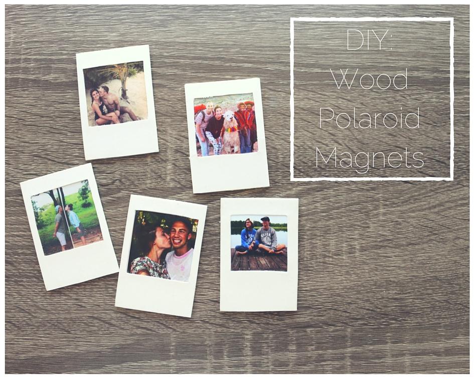 Diy Wood Polaroid Magnets Flower Crown