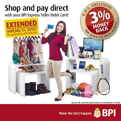 BPI Express Teller Debit/ATM Card Promo
