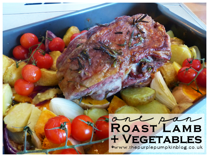 One Pan Roast Lamb with Vegetables