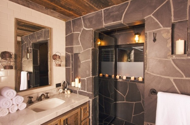 Decoracion De Baño Con Piedras:Decoración baños con piedra