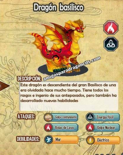 imagen de las caracteristicas del dragon basilisco