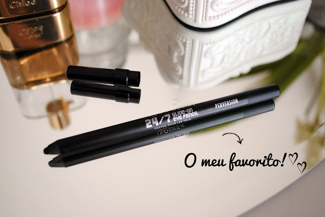 perversion, 24/7 glide on eye pencil, urban decay, review, daniela pires, makeup, black, lapis preto