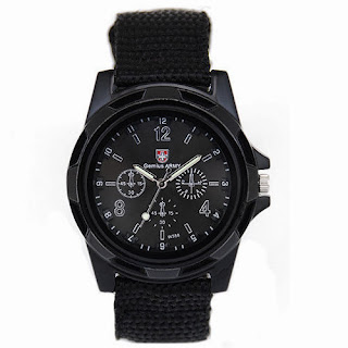 New Solider Military Army Sport Style Canvas Belt Luminous Quartz Wrist Watch