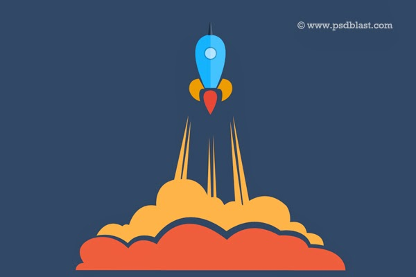 Launching Soon PSD Icon