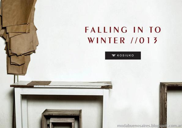 Adelanto Kosiuko otoño invierno 2013 Moda