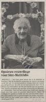 Joanna Lanckpaep 1897-1999, als honderdjarige gevierd in het rusthuis Sint-Mathildis van Boechout