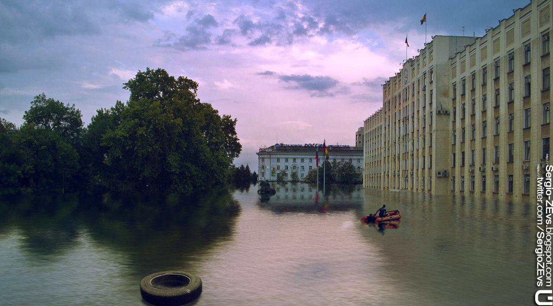 Плотина дамба Краснодарский край водохранилище паводок Кубань