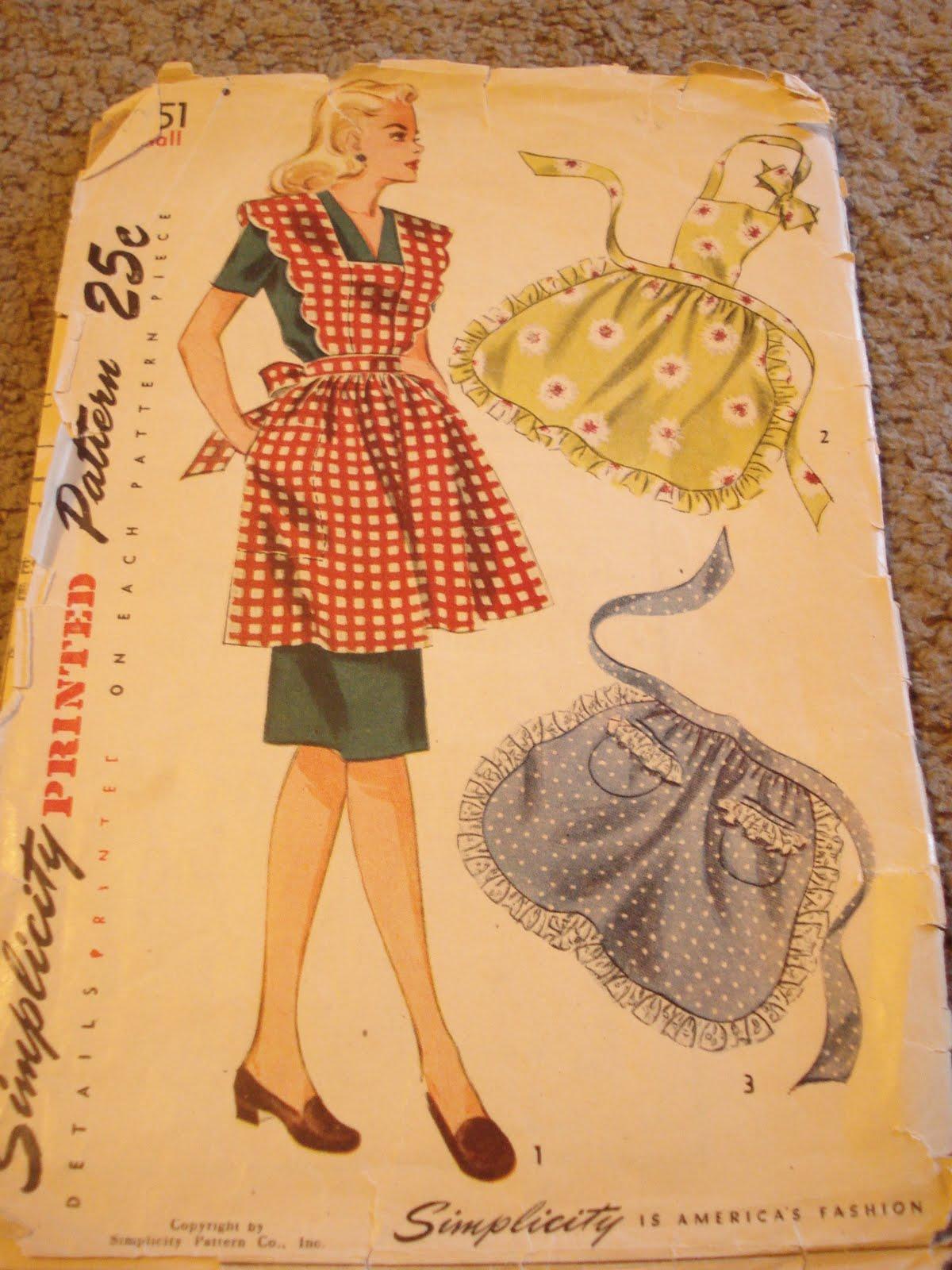 Vintage Apron Patterns Magnificent Inspiration Design
