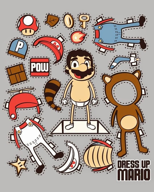 Dress Up Mario Printable Activity