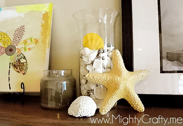 Easy Beach Decor - www.MightyCrafty.me