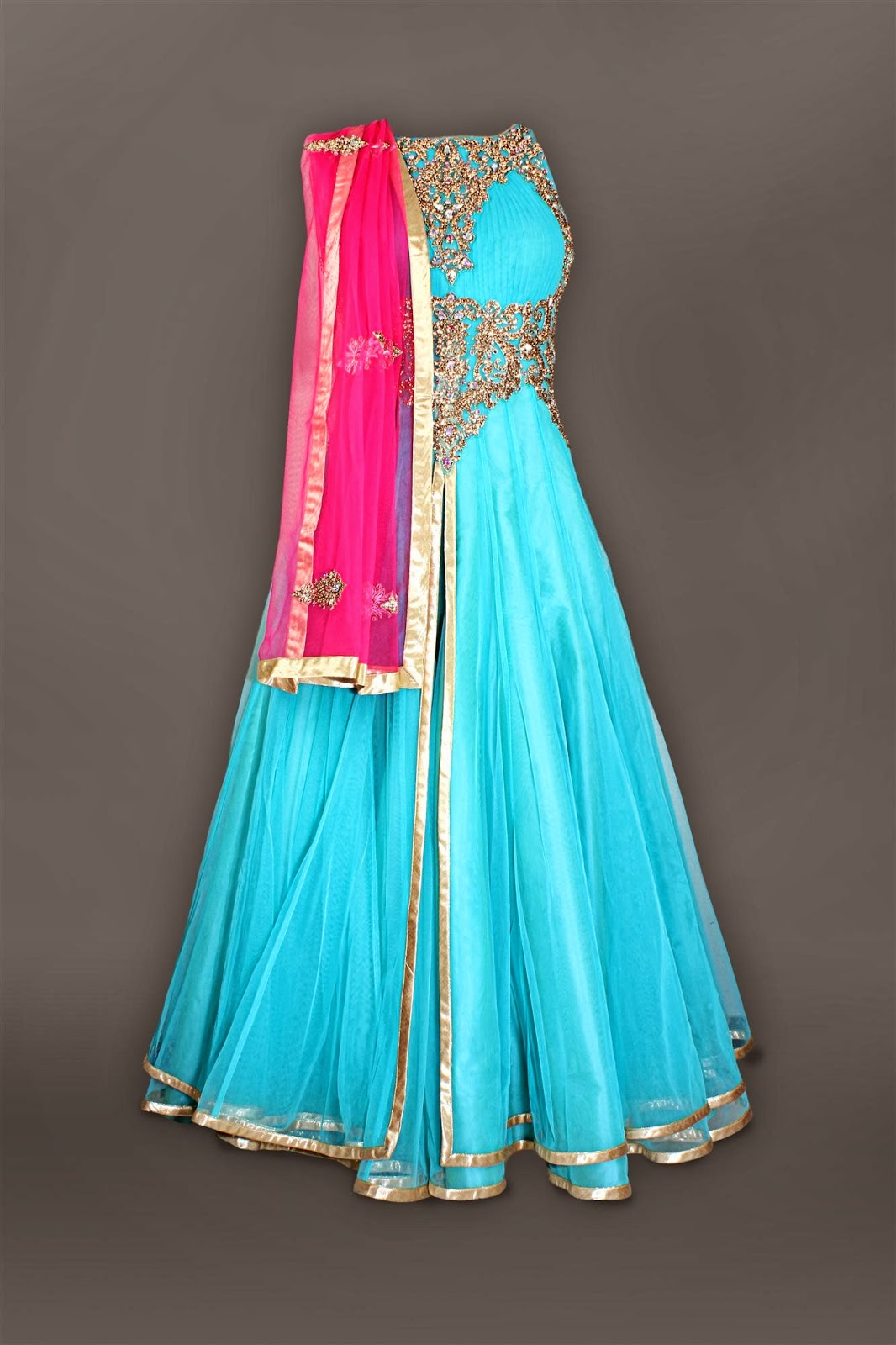 Wedding Anarkali Suits 2014 | Sketch Customs Clothing