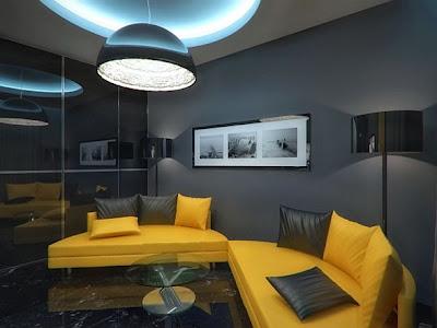 interior apartamento negro