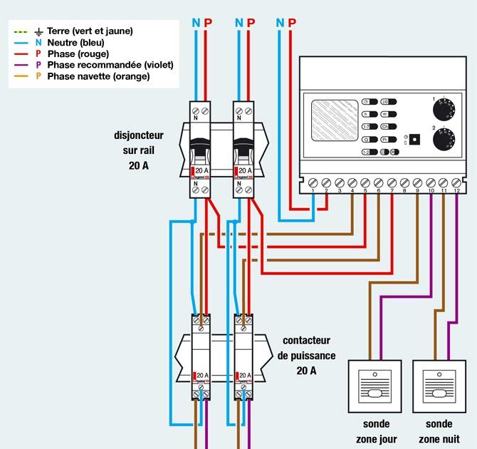 Schema electrique de branchement d 39 un thermostat - Schema electrique refrigerateur no frost ...