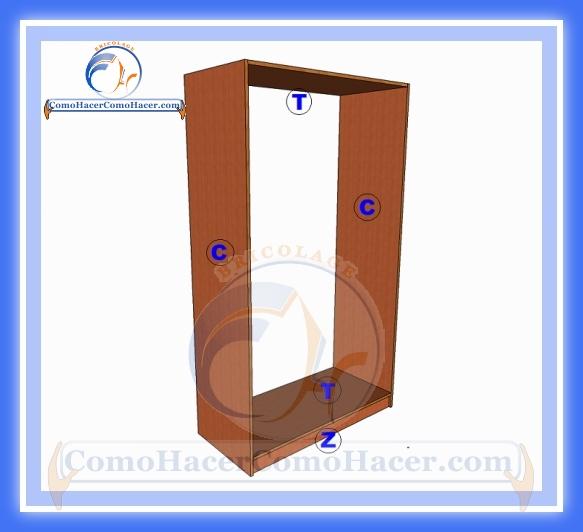 Placard de melamina plano con medidas web del bricolaje for Medidas para hacer un mueble de cocina