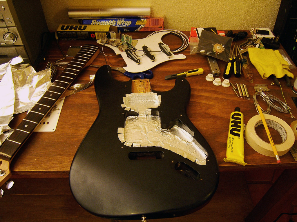 Beautiful Bulldog Wiring Tiny 3 Single Coil Pickups Regular Ibanez Bass Pickups 3 Coil Pickup Young Wiring Diagram For Gas Furnace BlueBulldog Remote Vehicle Starter System Joe Giampaoli: Shielding A Strat Guitar To Eliminate Hum And EMI Noise