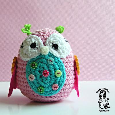 magic with hook and needles, vendula maderska design, crochet owl, owl toy, children, amigurumi, crochet pattern, owl pattern