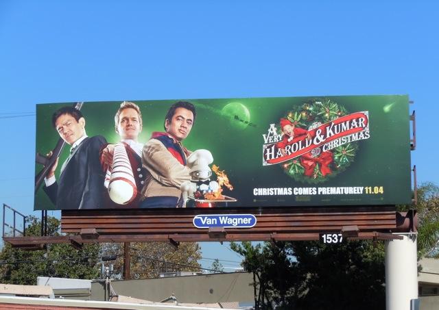 Harold & Kumar Christmas 3D billboard