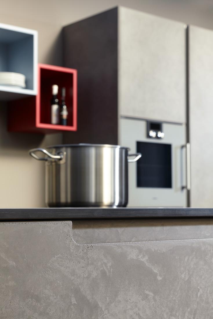cuisine quip e effet b ton cir par beeck. Black Bedroom Furniture Sets. Home Design Ideas