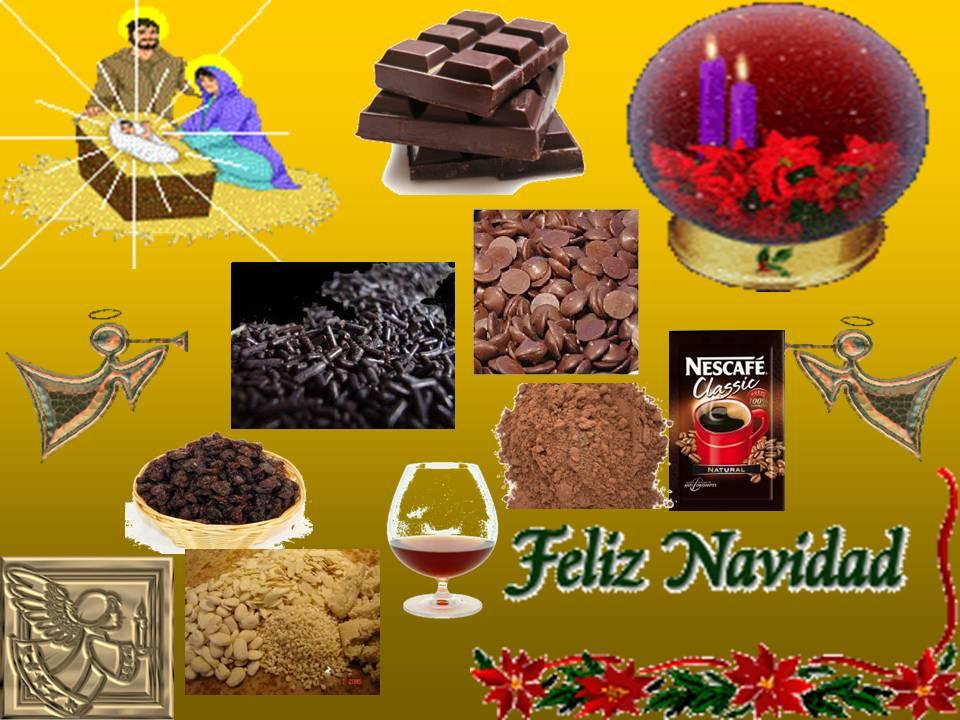 Pa mojar pan postres mazapan con chocolate almendras y - Postre especial navidad ...