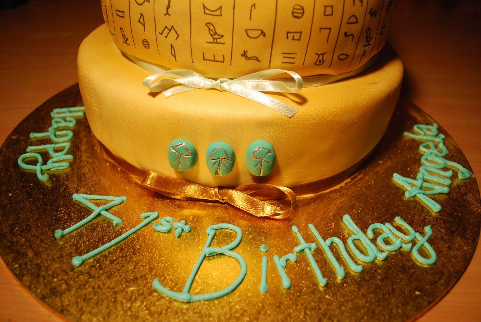 Lil Miz Scrumptious Ancient Egyptian Cake