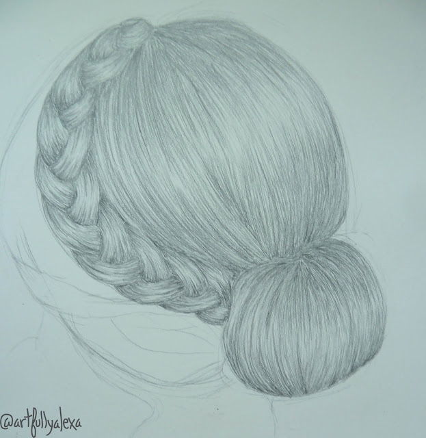 Artfully Alexa How To Draw A Braided Bun