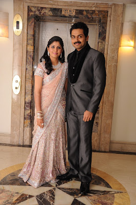Actor Karthi and Ranjani reception stills