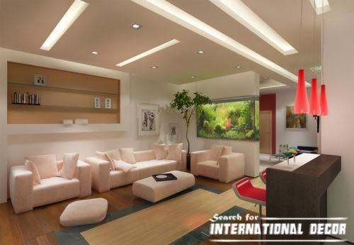 Living room decorating ideas with ceiling lighting