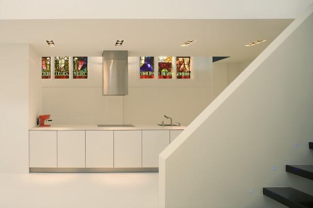 White kitchen in church home