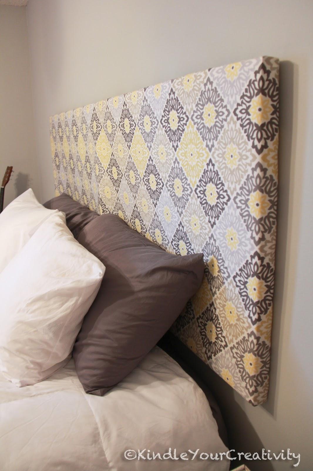 Kindle your creativity master bedroom redo diy fabric headboard solutioingenieria Gallery