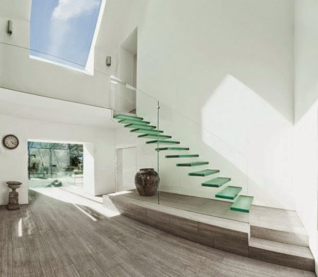 floating glass stairs,how to build a floating staircase