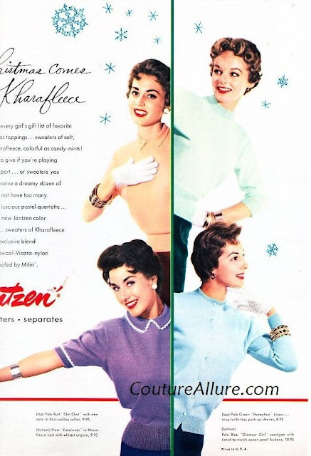 1950s Jantzen sweater advertisement Just Peachy, Darling