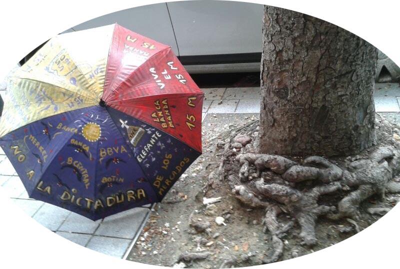 paraguas pintado política