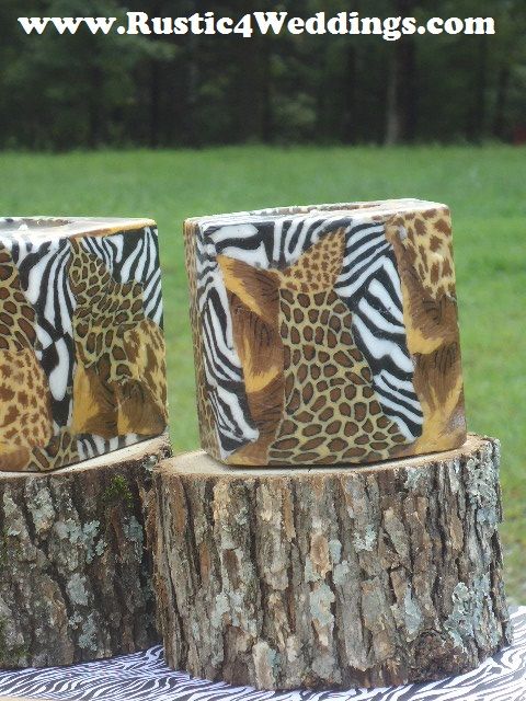 Rustic 4 Weddings Rustic Safari Wedding Candle Stands And