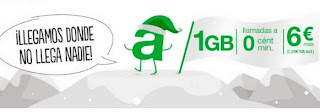 nueva tarifa 6 amena 1 gb internet llamadas gratis