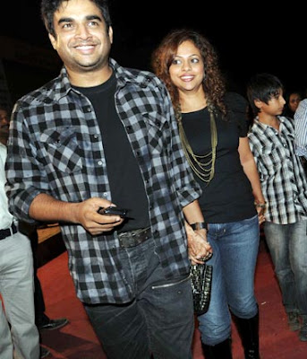 Madhavan with Sarita Birje at Bryan Adams concert