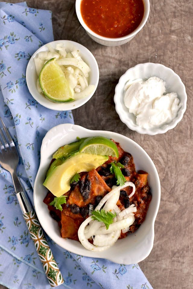 Red Mexican Chilaquiles