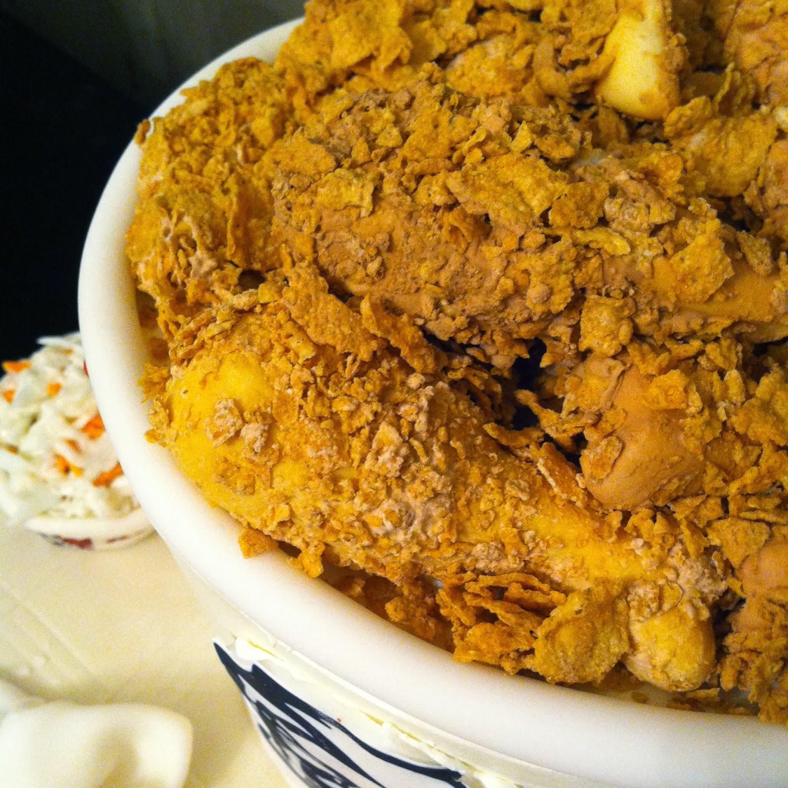 Close up KFC cake