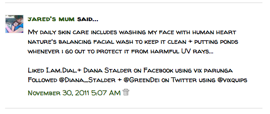 "Winners for ""Win Major Swags from Diana Stalder by I.am.Dial."" Online Giveaways 1"