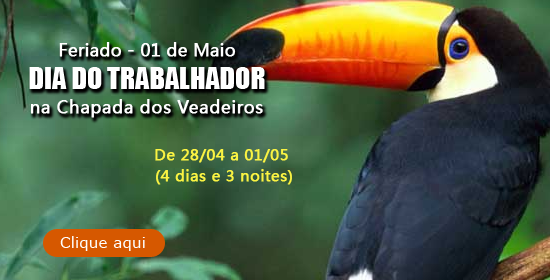 FERIADO DIA DO TRABALHO NA CHAPADA DOS VEADEIROS