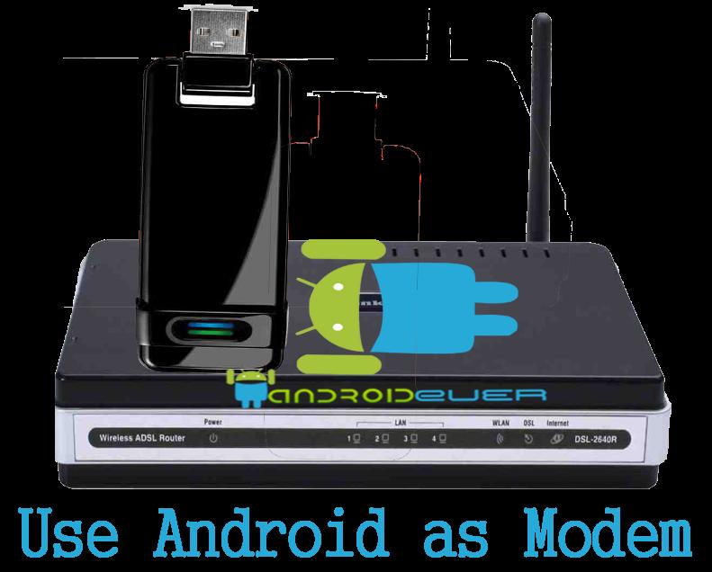 Как сделать чтобы модем на андроид