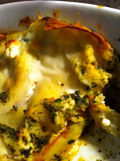 senza bimby, lasagne zucca e spinaci