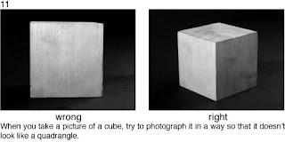 Совет 11. Когда вы снимаете кубические предметы, постарайтесь их разместить так, что бы передать их объем.