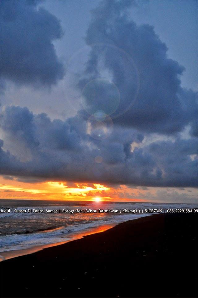 Judul : Sunset Di Pantai Samas | Fotografer : Wisnu Darmawan ( Klikmg3 )