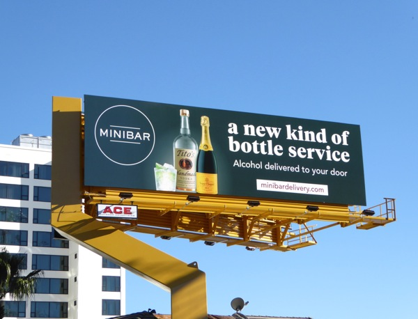 Minibar new kind of bottle service billboard